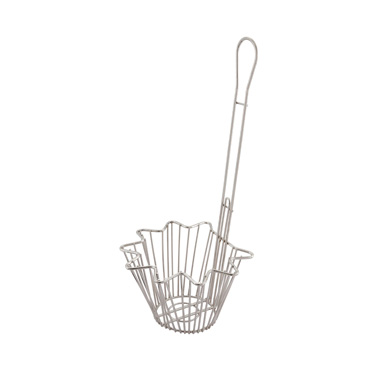 "Winco TB-20 Taco Salad Bowl Basket - 8-.3""Dia., Nickel Plated"