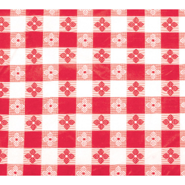 "Winco TBCS-52R Table Cloth, 52"" x 52"", square, pvc material with cotton lining, red checkerboard"