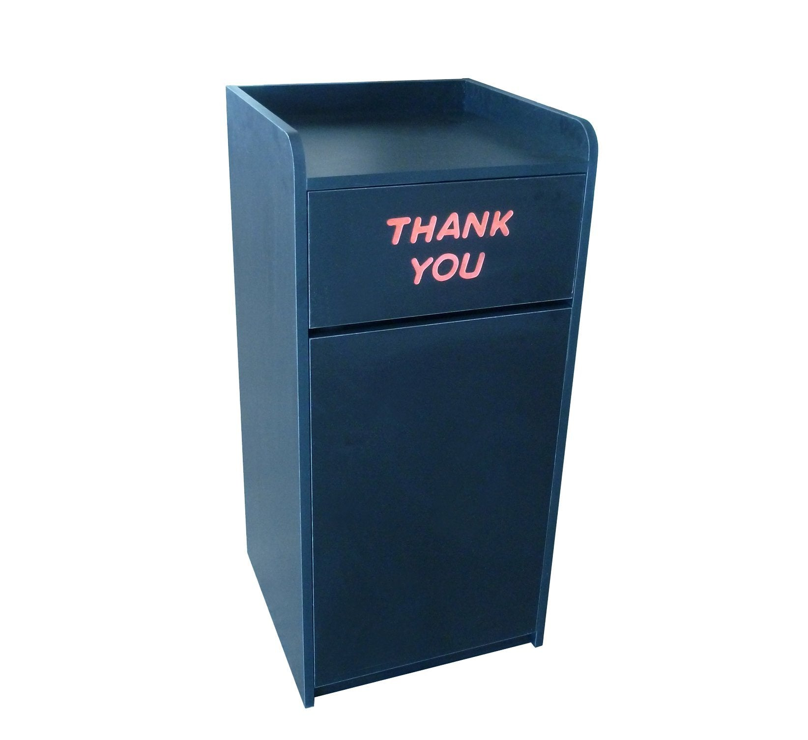 DHC TC-828-BLK Trash Cabinet, Black Laminate