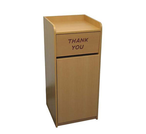 DHC TC-828-NAT Trash Cabinet, Natural Laminate