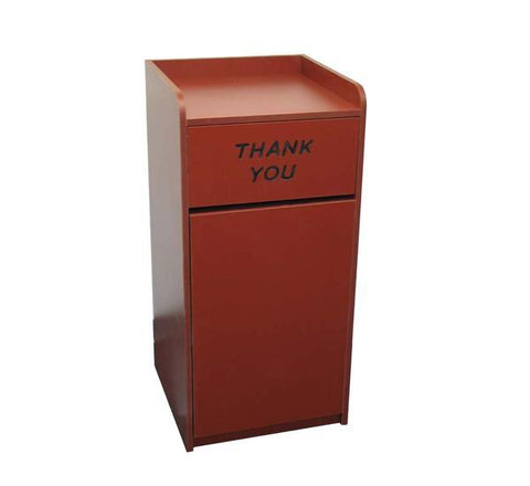 DHC TC-828-RED Laminated Trash Cabinet, Red