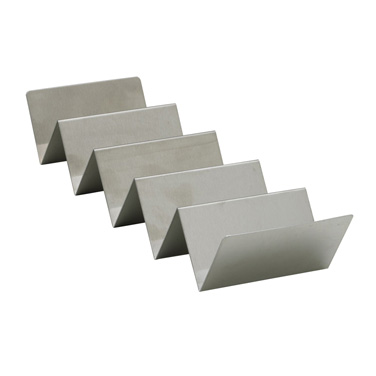 "Winco TCHS-45 Taco Holder, 13-1/10""W x 4""D x 2-3/10""H, holds 4-5 tacos, stainless steel, brushed finish"