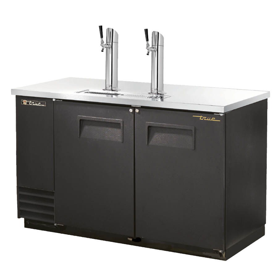 True TDD-2-HC Draft Beer Cooler, (2) Keg Capacity, Stainless Steel Counter Top