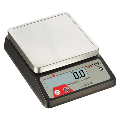Taylor TE10FT Portion Control Scale, digital, compact, 11 lb. x .1 oz./5 kg x 1 g capacity