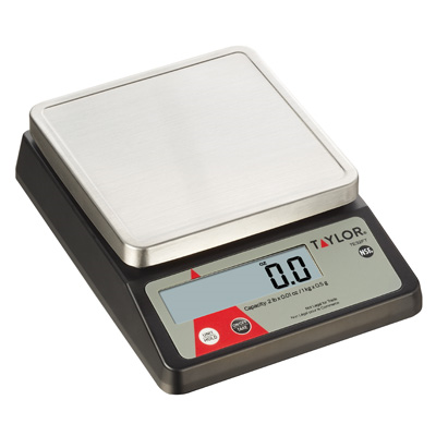 Taylor TE32FT Portion Control Scale, digital, compact, 2 lb x .01 oz. / 1 kg x 0.5 g dry capacity