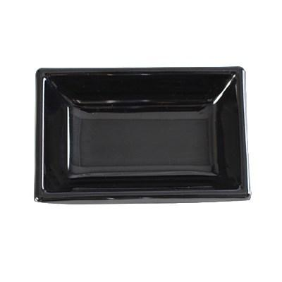 Thunder Group 19001BK Classic Black 2 oz. Rectangular Melamine Sauce Dish