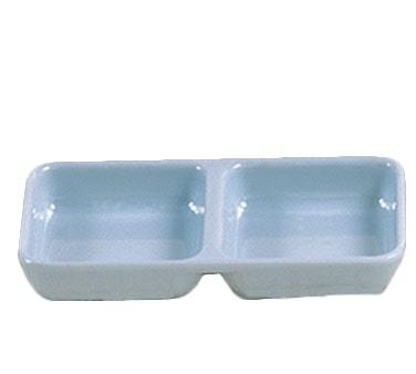 Thunder Group 1902 Blue Jade 4 Oz. Twin Sauce Dish