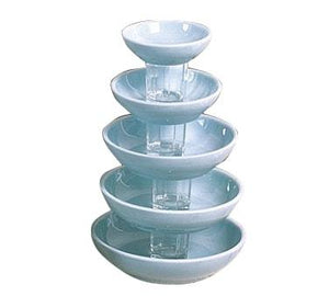 Thunder Group 3955 9 oz Blue Jade Pattern Melamine Bowl