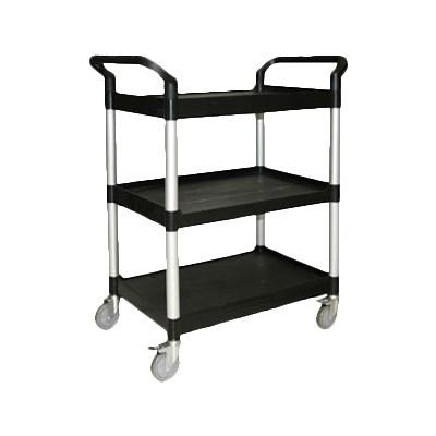 "Thunder Group PLBC3316B 33-1/2"" Bus Cart, Black 3-Tier"