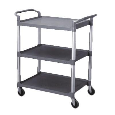 "Thunder Group PLBC4019G 40-1/2"" Bus Cart, Gray 3-Tier"