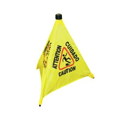 "Thunder Group PLFCS330 19-1/2"" Pop-Up Safety Cone with Storage Tube"
