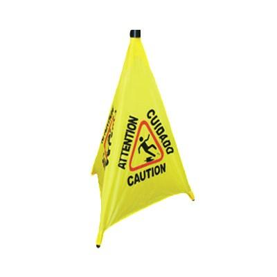 "Thunder Group PLFCS332 31"" Pop-Up Safety Cone with Storage Tube"