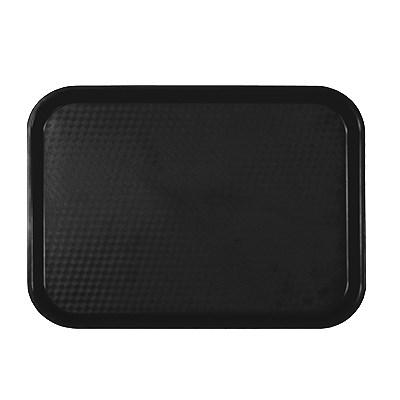 "Thunder Group PLFFT1014BK Fast Food Tray, 10-1/2"" X 13-5/8"", Rectangular, Plastic, Black"