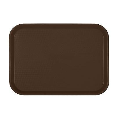 "Thunder Group PLFFT1014BR Fast Food Tray, 10-1/2"" X 13-5/8"", Rectangular, Plastic, Brown"