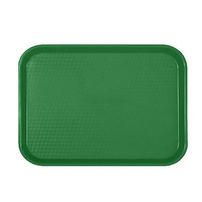 "Thunder Group PLFFT1014GR Fast Food Tray, 10-1/2"" X 13-5/8"", Rectangular, Plastic, Green"
