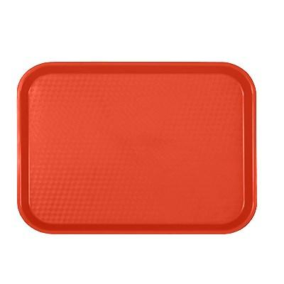 "Thunder Group PLFFT1014RD Fast Food Tray, 10-1/2"" X 13-5/8"", Rectangular, Plastic, Red"