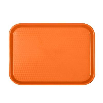 "Thunder Group PLFFT1014RR Fast Food Tray, 10-1/2"" X 13-5/8"", Rectangular, Plastic, Orange"