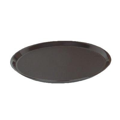 "Thunder Group PLRT012 Slip Resistant Serving Tray 12"" Dia., Black"