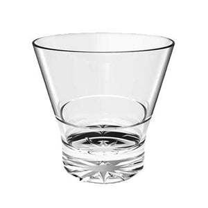 Thunder Group PLTHRG210C 10 Oz. Rocks Glass, Starburst Base, Stackable, Polycarbonate, Clear