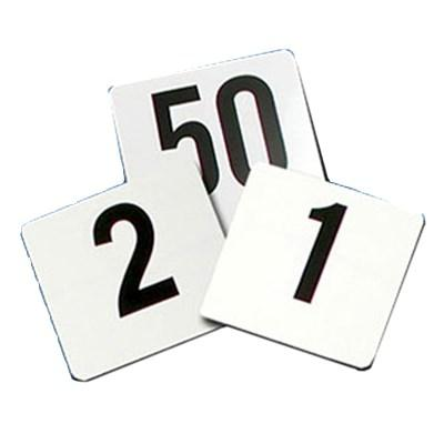 "Thunder Group PLTN4050 Table Number Cards, 4"" X 4"", Numbers 1-50, Plastic"