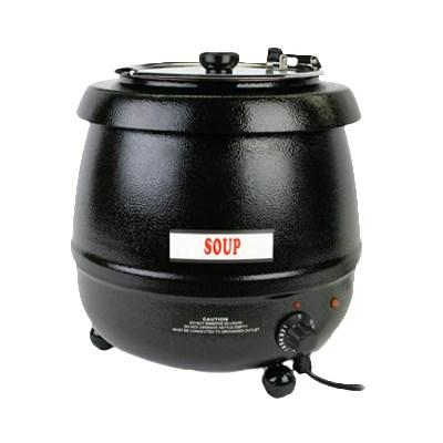 Thunder Group SEJ30000C Stainless Soup Warmer - 10.5 Qt., Black Color