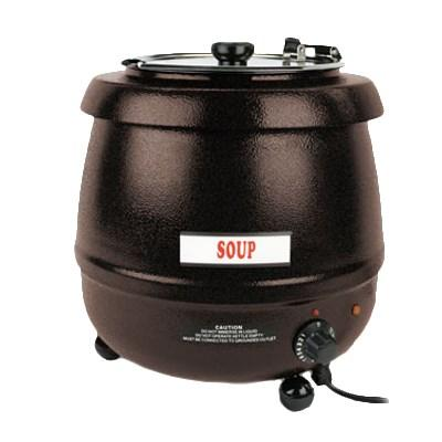 Thunder Group SEJ32000C Soup Warmer - 10.5 Qt., Stainless Steel, Brown Color