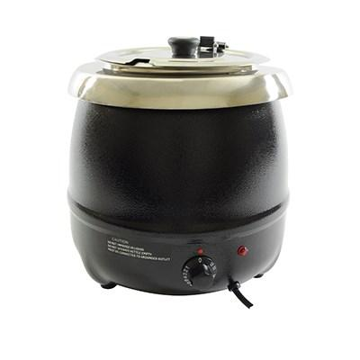 Thunder Group SEJ35000C Soup Warmer - 10.5 Qt., Aluminum, Black Color