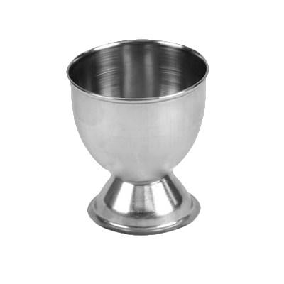 "Thunder Group SLEC001 Egg Cup, 2"" X 2-1/8""H, Rolled Edge, Footed Base, Stainless Steel, Mirror Finish"