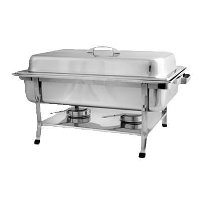 Thunder Group SLRCF002 8 Qt  Full Size Welded Chafer With Plastic Footed