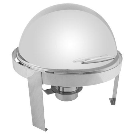 Thunder Group SLRCF0860 6 Qt Round Roll Top Stainless Steel Handle Chafer