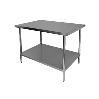 "Thunder SLWT42460F 24"" x 60"" x 35"" Work Table"
