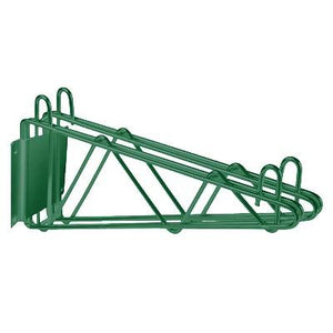 "Thunder Group WBEP224 Wall Bracket, 24""D, Double, Epoxy Coated, Green, NSF"