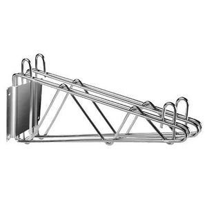 "Thunder Group WBSV218 Wall Bracket, 18""D, Double, Chrome Plated Finish, NSF"