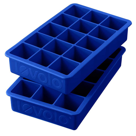 Tovolo  80-12007, Perfect Cube Ice Trays, Stratus Blue