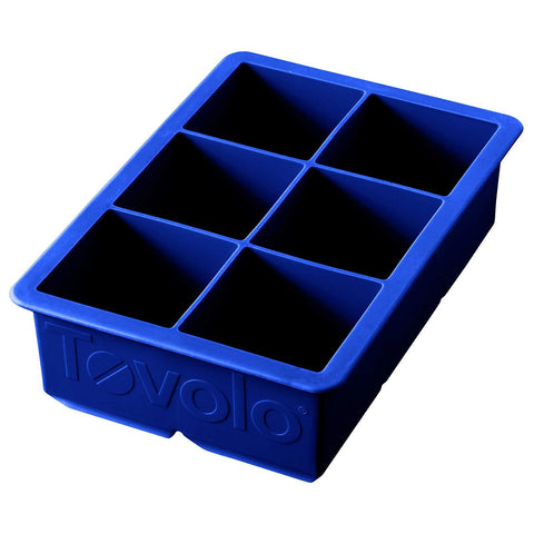 Tovolo 80-5521, King Cube Ice Tray, Stratus Blue