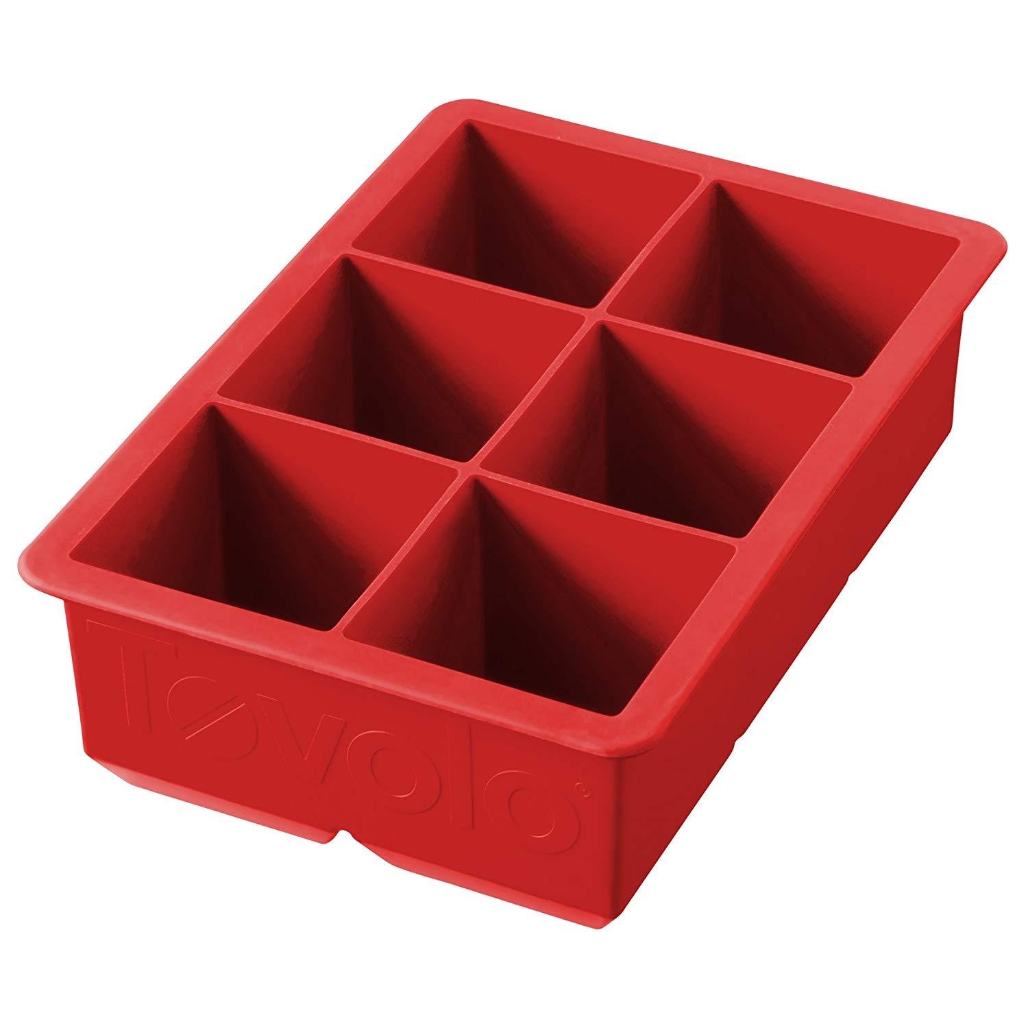 Tovolo 81-9110, King Cube Ice Tray, Candy Apple