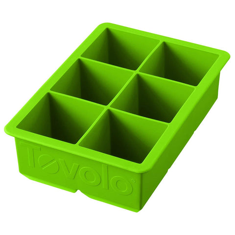Tovolo 81-9707, King Cube Ice Tray, Spring Green