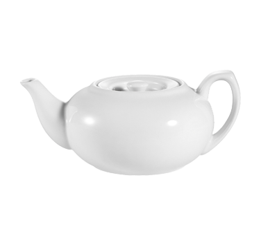 "CAC China TPW-2 Accessories Teapot, 30 oz., 8""L x 3-1/2""W x 5""H, with flat lid, 1dz Per Case"