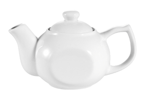 "CAC China TPW-4 Accessories Teapot, 10 oz., 6-1/4""L x 3-7/8""W x 3-1/4""H, with raised lid, 3dz Per Case"