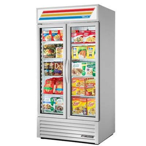 True GDM-35F~TSL01 Two-Section Display Freezer with Swinging Doors - 8 Shelves,  115v