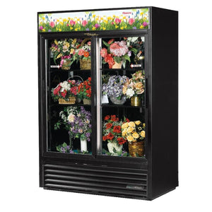 True GDM-47FC-HC-LD Two-Section Refrigerated Floral Cooler with Sliding Doors