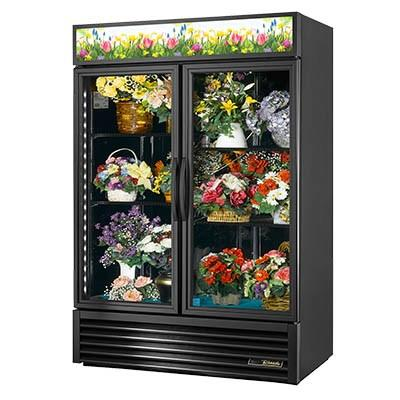 Two-Section Refrigerated Floral Cooler with Swing Doors
