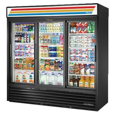 Three-Section Refrigerated Merchandiser with Sliding Glass Doors