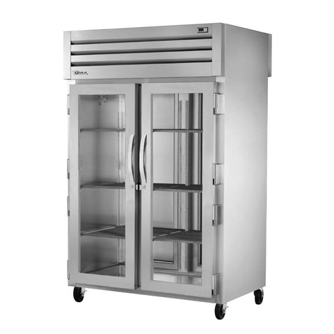 True STA2RPT-2G-2S-HC SPEC SERIES® Pass-Thru (2) Solid Front/Solid Rear Swing Doors Refrigerator with Hydrocarbon Refrigerant,115v