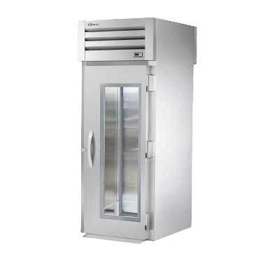 True STG1RRT-1G-1S One-Section Roll-Thru Refrigerator with (1) Glass Front (1) Solid Rear Swing Door