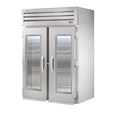 Two-Section Roll In Refrigerator with (2) Front Glass Doors