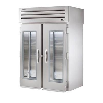 Two-Section Roll Thru Refrigerator with (2) Front Glass Doors