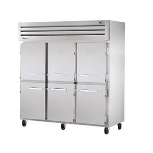 Three-Section Reach-In Freezer with (6) Stainless Steel Half Doors