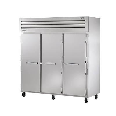 Three-Section Reach In Refrigerator with (3) Stainless Steel Doors