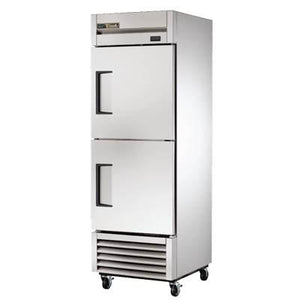 One-Section Reach In Refrigerator with (2) Stainless Steel Half Doors